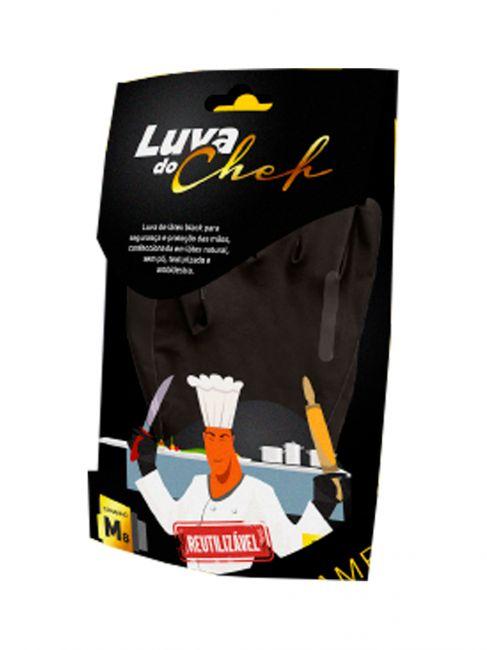Luva do Chefe Látex Black Reutilizável - LALAN C.A. 41945
