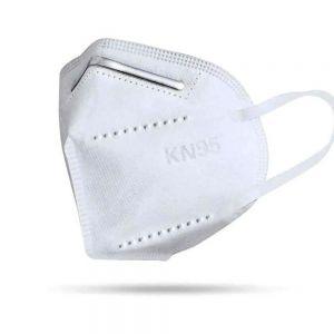 Máscara KN95 com elástico na orelha sem válvula EMBALGEM COM 2 UNIDADES