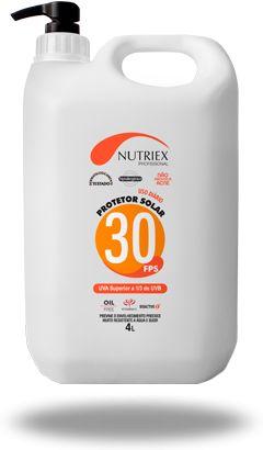 Protetor Solar FPS 30 4 Litros - Nutriex